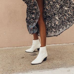 White Pointed Toe Booties